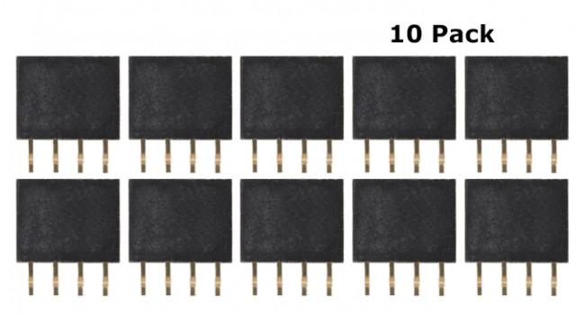 Header Female 4 Pin 2.54mm (10 Pack)