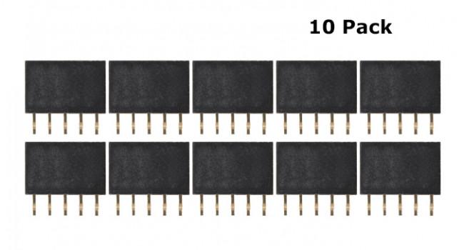 Header Female 5 Pin 2.54mm (10 Pack)