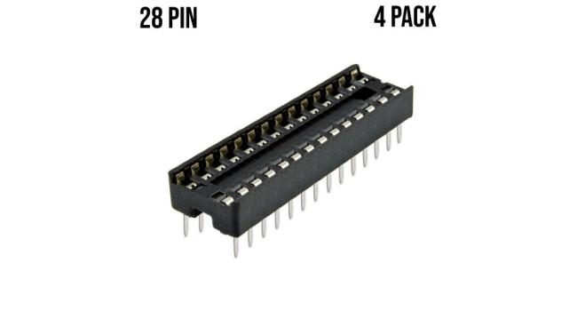 Socket IC 28 Pin (4 Pack)