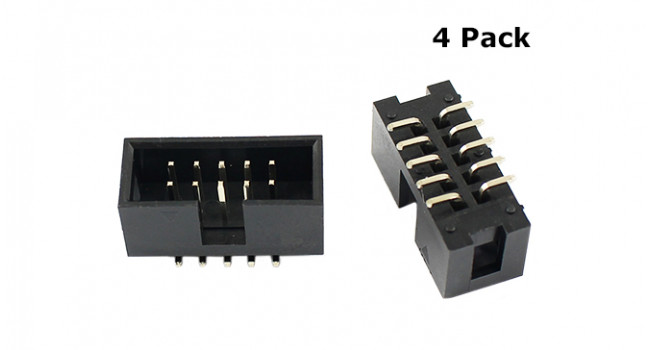 IDC 2X5 Box Connector - SMD (4 Pack)
