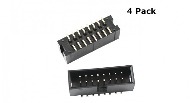 IDC 2X8 Box Connector - SMD (4 Pack)