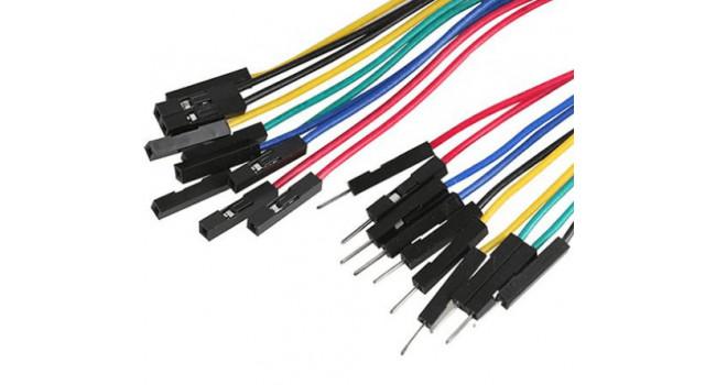 Premium Jumper Wires - Male Female (50 Pack)
