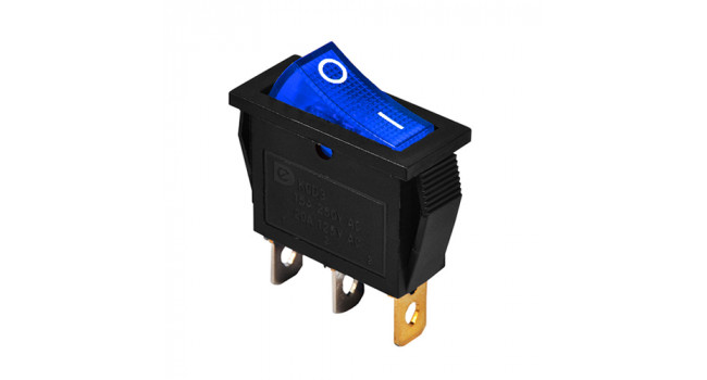 Rocker Switch 240V 15A - Blue