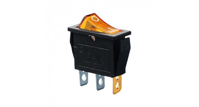 Rocker Switch 240V 15A - Orange