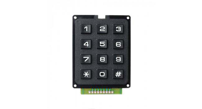 DIY 3x4 12-Key Numeric Keypad - Black