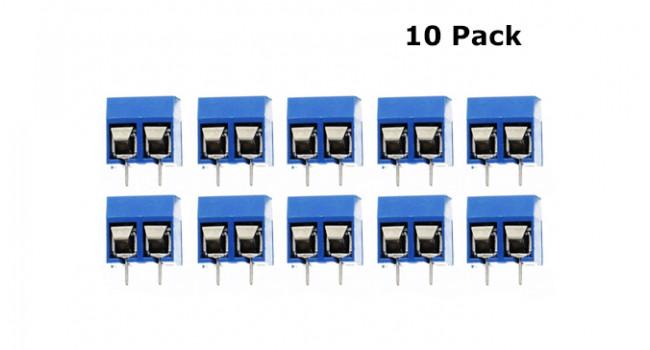 Screw Terminal Block 2 Pin - 5mm (10 Pack)