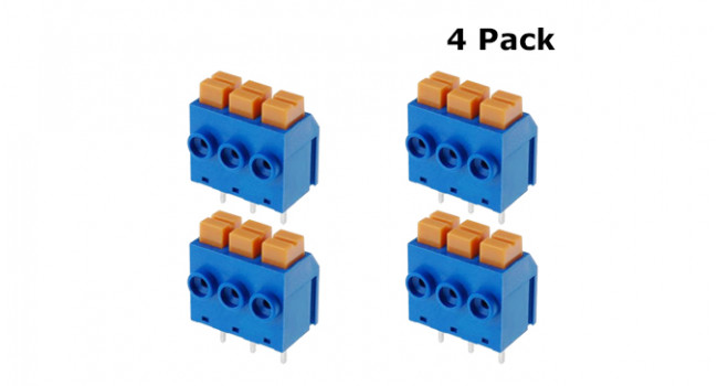 PCB Quick Release 3 Pin - 5mm (4 Pack)