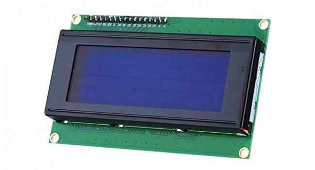 LCD 20x4 Display White on Blue 5V I2C