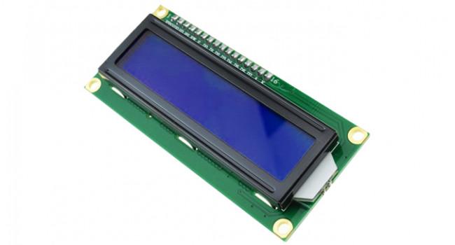 LCD 16x2 White on Blue - 3.3V