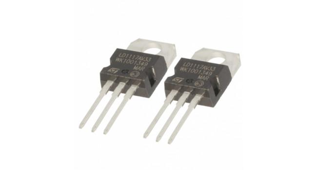 Voltage Regulator 3.3V (2 Pack)