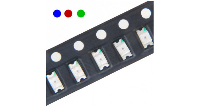 LED SMD Red, Blue and Green Size 1206 (30 Pack)