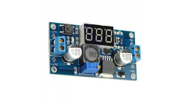 LM2596 Buck Regulator, In 4.5-40V, Out 1.5-37V 2A (Max 3A) with Display