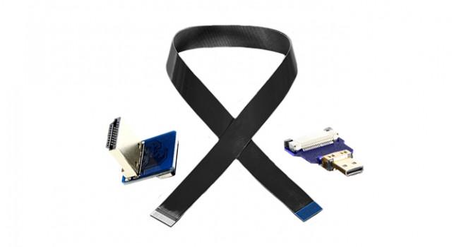 Micro HDMI to HDMI Ribbon Cable Kit