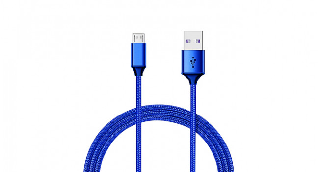 Micro USB Cable 1m Flexible - Blue