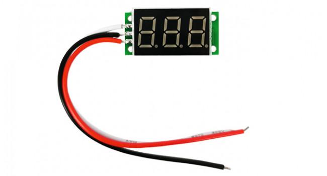 Mini Voltmeter 500VDC - Blue