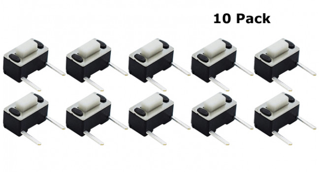 Horizontal Tactile Switch - 10 Pack