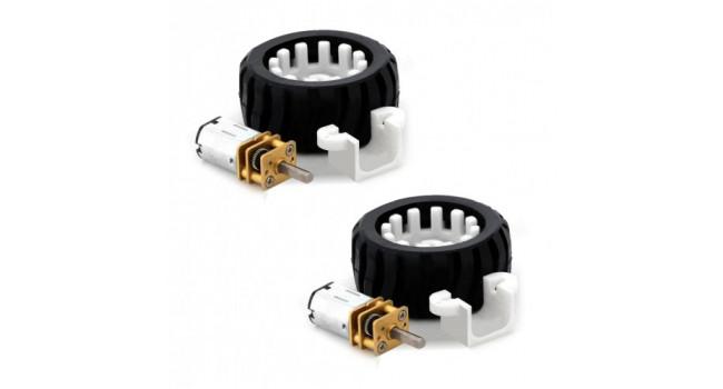 Dual N20 Robot Wheel Kit