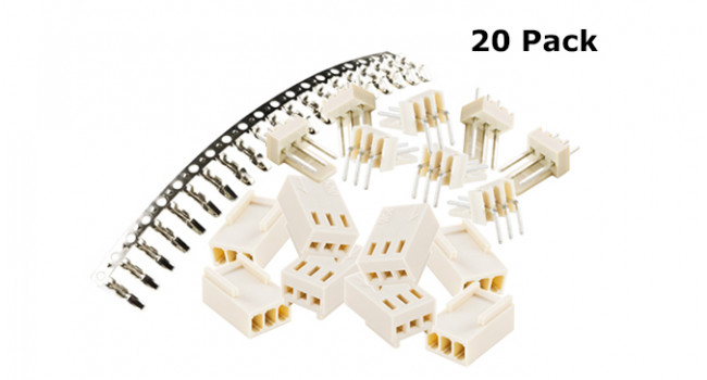 Polarised Connector 3P Kit (20 Pack)