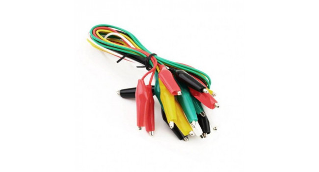 Aligator Test Leads- Multicoloured (10 pack)