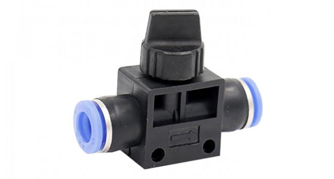 Pneumatic Manual Control Valve - 6 to 6mm
