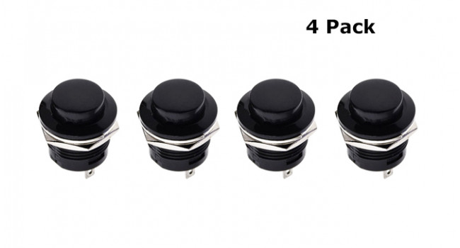 Switch Panel Mount 16mm  - No Lock (4 Pack)