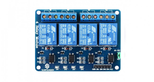 4 Channel Relay Module - Opto-Isolated