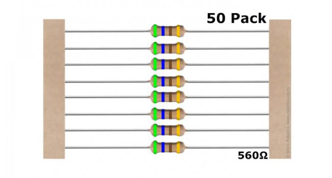 Resistor 560 Ohm (50 Pack)