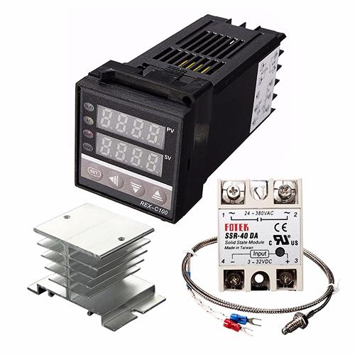 REX C100 PID Control + 40A SSR + Sensor