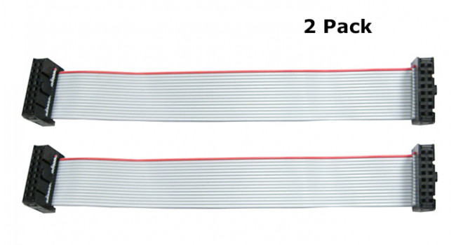 IDC 2x8 Cable 200mm (2 Pack)