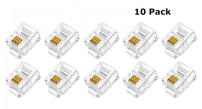 RJ11 4 Pin Crimp Connector