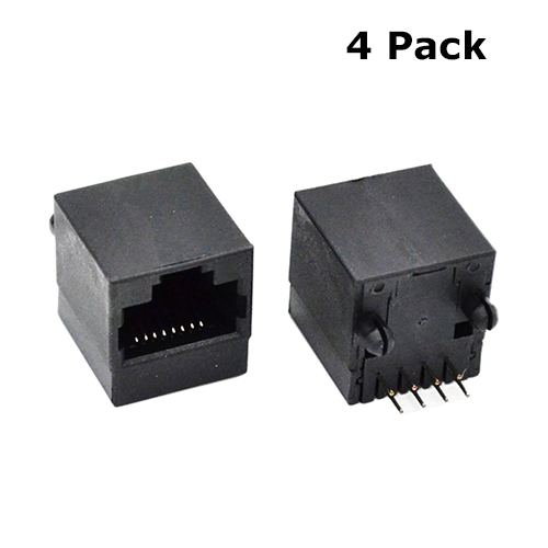 Prime Rj45 Connector Black Pcb 4 Pack Micro Robotics Wiring 101 Tzicihahutechinfo