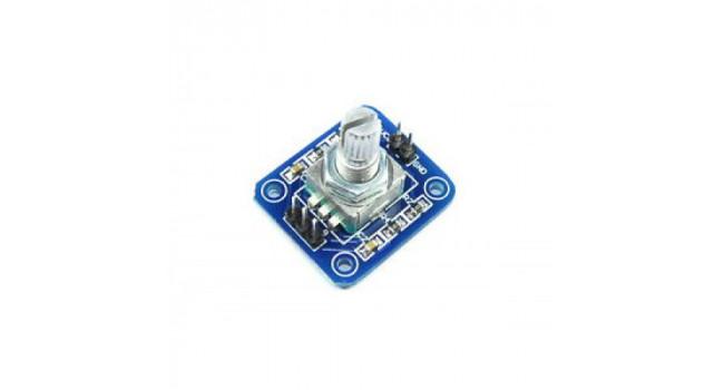 Rotary encoder module + button