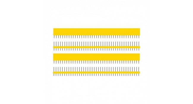 SIP 40 Way Header Kit - Yellow