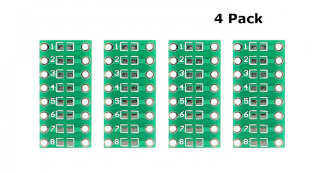SMD 0805 to DIP PCB (4 Pack)