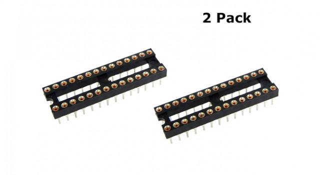 28 Pin IC Socket (2 Pack)