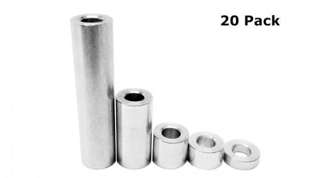 Spacer Kit M5 Bore = 3, 6, 9, 20, 35 (20 Pack)