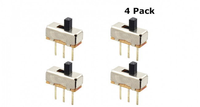 Slide Switch - Horizontal - Pitch 2.54 3mm (4 Pack)