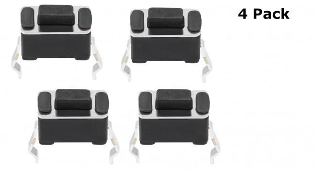 Mini Push Buttons - 2 Pin  (4 Pack)