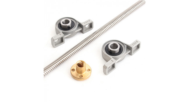 T8 Lead screw Kit with Ends and Coupler - 1000mm