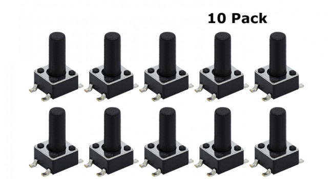 Tactile Switch 4 Pin H=16mm SMD (10 pack)