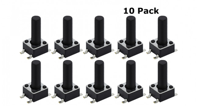Tactile Switch 4 Pin H=18mm SMD (10 pack)