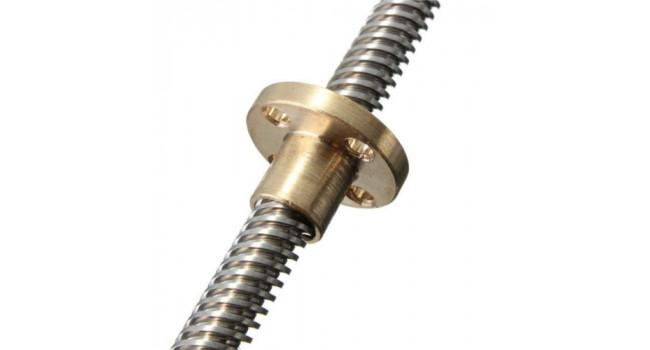 Lead Screw 300 mm M8 + Brass Nut