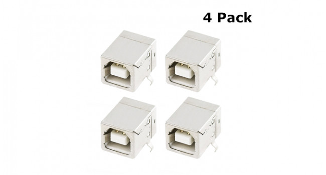 USB Type B Connector - TH (4 Pack)