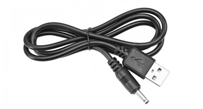 USB to DC Jack 1.35/3.5mm 1M