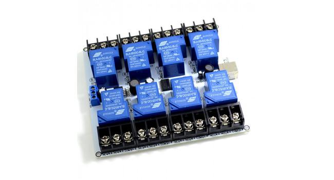 USB Relay Board - 8 Way - 30A High Power
