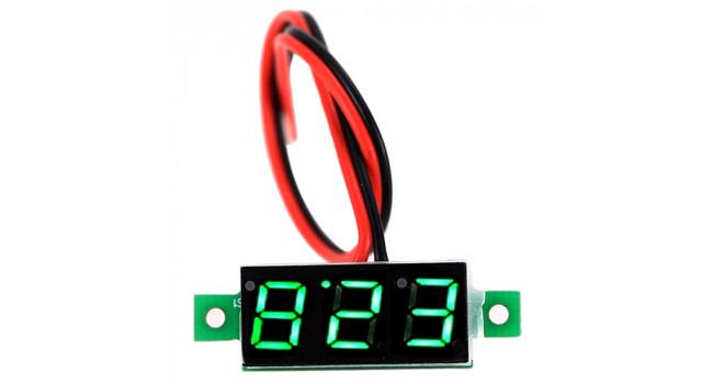 Mini Voltmeter 2.4-30V Green
