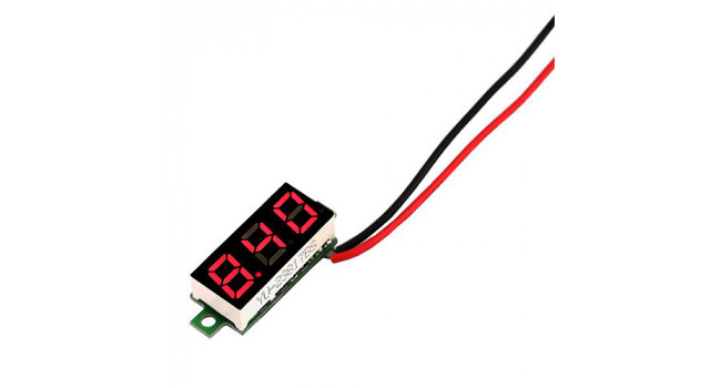 Mini Voltmeter 2.4-30V Red