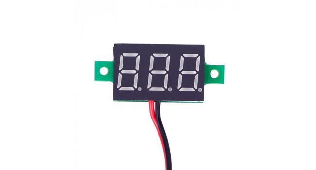 Mini Voltmeter 2.4-30V White