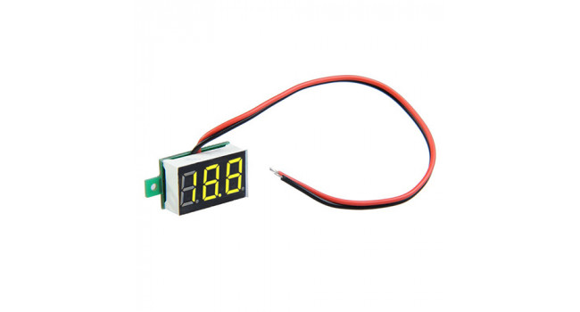 Mini Voltmeter 2.4-30V Yellow