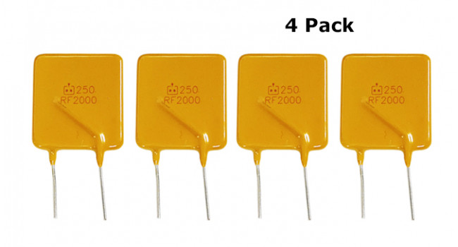 Resettable Fuse 250V 2A (4 Pack)